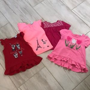 Gap kids and Harstrings tee shirts toddler girl 2T